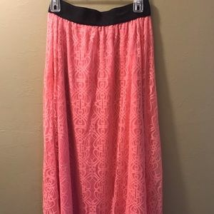 NWOT LuLaRoe Lacey pink maxi Sz Small Madison